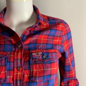 Red Plaid XS Hollister Shirt